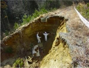 管理用道路及び水路崩壊
