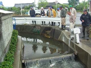 青根場用水路の勉強会